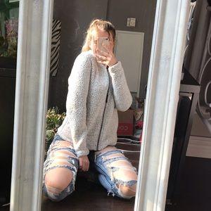 Jackets & Blazers - Cozy fleece jacket sz xs in grey